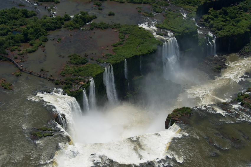 Over flying the falls
