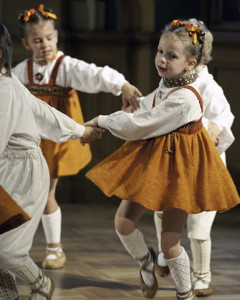Dzintarinš children's folk dance troupe